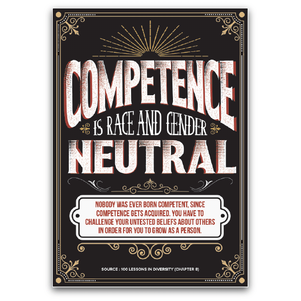 Competence is Race and Gender Neutral